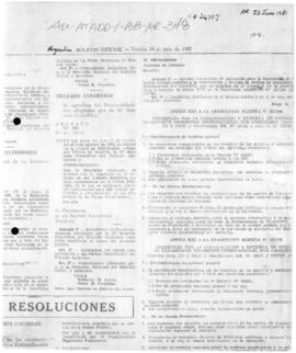 Argentina, Decree 495, concerning recommendations adopted at the Tenth Antarctic Treaty Consultat...