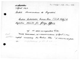 British memorandum to Argentina