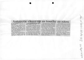 "Dayton, Leigh ""Antarctic clean-up as touchy as nitro"""