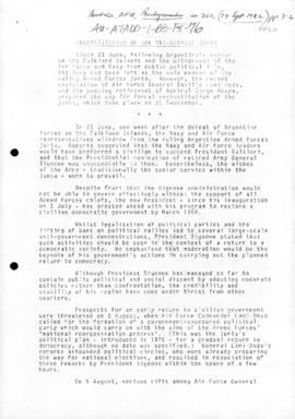 "Australia, Department of Foreign Affairs ""Reconstitution of the Tri-Service Junta"" Back..."
