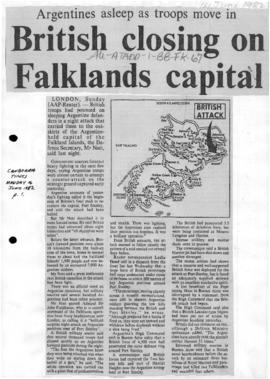 Press articles concerning the Falkland Islands/Malvinas conflict, June 12-16, 1982