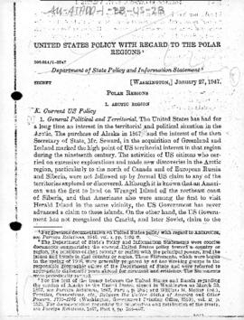United States Department of State policy and information statement on polar regions (extracts)