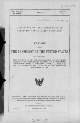 US Senate, Message from the President of the United States transmitting the Convention on the Con...