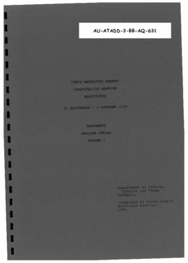 Tenth Antarctic Treaty Consultative Meeting (Washington), documents, English series volume I