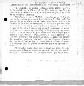Chilean statement of reasons for refusal to accept settlement by the International Court of Justice of the dispute with the United Kingdom over Antarctica