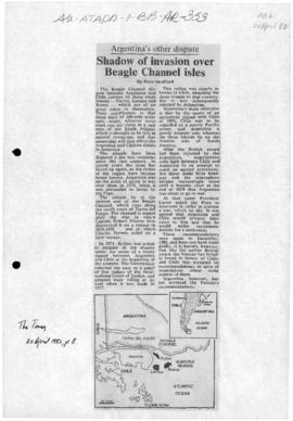 Press articles concerning the Beagle Channel dispute