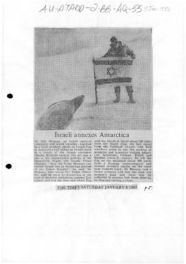 """Israeli Annexes Antarctica"" The Times"