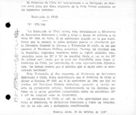 Chilean note to Argentina asserting its claims in response to Argentina's reservation on Chilean postage stamps
