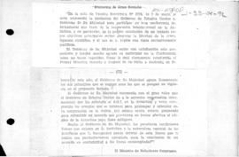 British note to the United States accepting the United States' invitation to attend an international conference on Antarctica