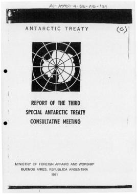 Third Special Antarctic Treaty Consultative Meeting, Buenos Aires, meeting report