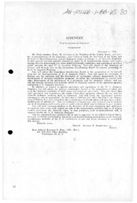 United States Antarctic Program and appointment of Admiral Byrd