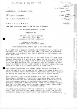 "Australia, Department of Foreign Affairs and Trade, ""The Environmental Protection of the Ant..."