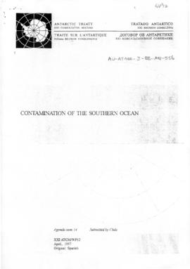 "Twenty-first Antarctic Treaty Consultative Meeting (Christchurch) Working paper 12 ""Contamin..."