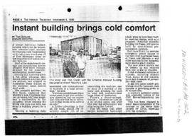 "Gosling, Tom ""Instant building brings cold comfort"" The Herald, Melbourne"
