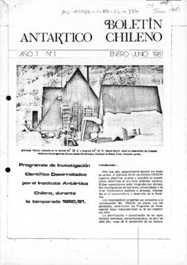 Scientific research by the Chilean Antarctic Institute in 1980/81