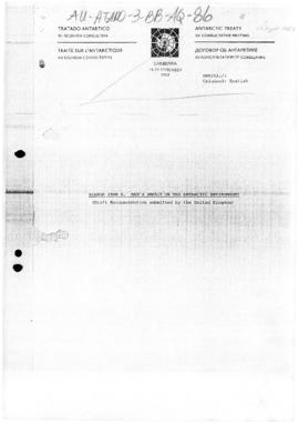 Twelfth Antarctic Treaty Consultative Meeting (Canberra) various information papers
