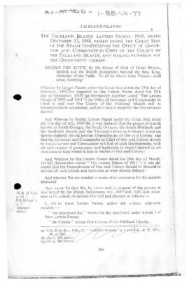 Falkland Islands Letters Patent, 1948