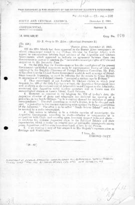 British note concerning claims by Argentina and Chile