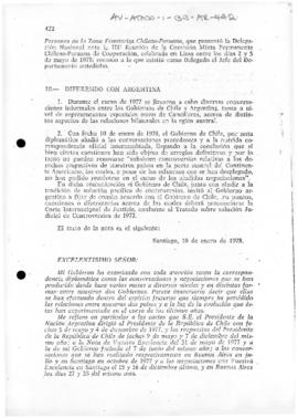 Chilean notes to Argentina concerning arbitration in the  International Court of Justice, the treaty of 1881,  the arbitral award of 18 April 1977