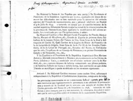 Treaty of recognition, peace and friendship between the Argentine Republic and Spain, signed at Madrid (extract)