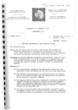 Tenth Antarctic Treaty Consultative Meeting (Washington) Working paper 51 Revision 1 Correction 1...