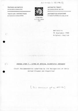 Twelfth Antarctic Treaty Consultative Meeting (Canberra) various papers