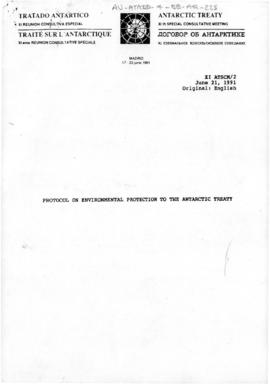 Eleventh Special Antarctic Treaty Consultative Meeting, third session (Madrid), working paper. XI...