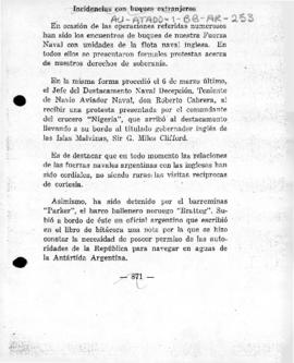 Argentine account of naval incident in 1947/48