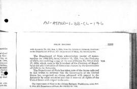 United States note to Chile concerning the statute for the Chilean Antarctic regions