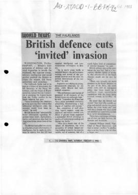 Press articles concerning the Falkland Islands/Malvinas conflict, February-May 1983