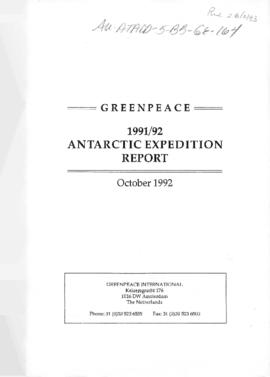 Greenpeace, 1991/92 Antarctic Expedition Report