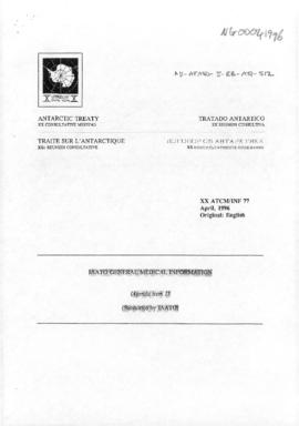"Twentieth Antarctic Treaty Consultative Meeting (Utrecht) Information paper 77 ""IAATO general medical information"" (XX ATCM/INF 77) (IAATO)"