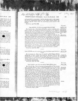 United States Congress, Public Statutes at Large, acts concerning Charles Wilkes and the United States  Exploring Expedition, 1830 t0 1845