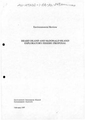 Review of the need for an environmental impact statement or public environment report under the Environments Protection (Impact of Proposals) Act for fishing in waters within the Australian Fishing Zone near Heard Island and McDonald Islands but outside the Australian Fishing Zone