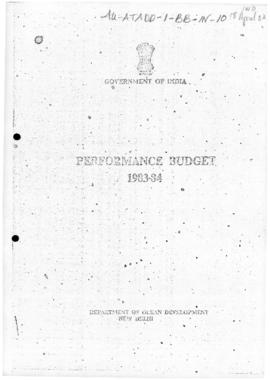 India, Department of Ocean Development, Performance Budget 1983-84