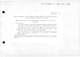 Recommendations of the first Antarctic Treaty meeting on telecommunications, Washington, 1963