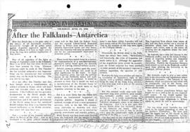 Press articles concerning the Falkland Islands/Malvinas conflict, June 17-30, 1982