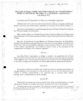 General Treaty on the judicial solution of disputes between the Republic of Chile and the Argentine Republic