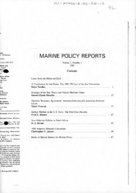 "Joyner, Christopher ""Antarctic Minerals Convention"" Marine Policy Reports"