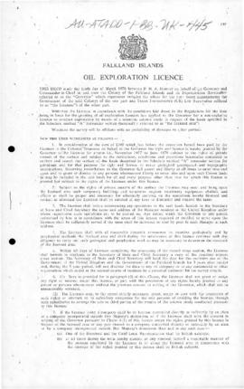 United Kingdom, Falkland Islands, Oil exploration licence