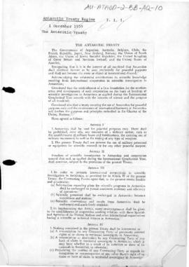 The Antarctic Treaty