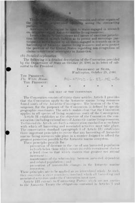 US Senate, advice and comment concerning US ratification of the Convention on the Conservation of...