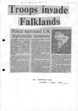 Press articles concerning the Falklands Islands/Islas Malvinas conflict