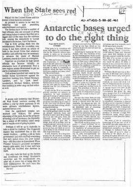 A collection of press articles concerning Antarctic issues and events 1988 to 1999