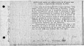 "British note protesting at the presence of Chilean patrol boat ""Lientur"" in British waters"