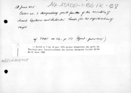 France, Order no. 7 designating ports of the French Southern and Antarctic Lands for the registration of ships