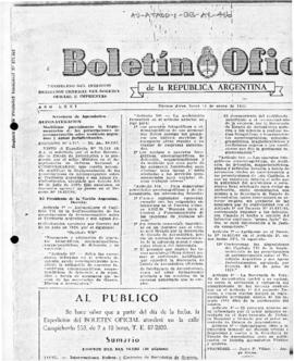 Argentina, Decree 17167 regulating aerial navigation over Argentine territory
