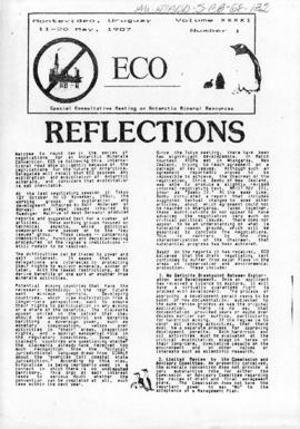 "Environment campaign newsletters, ""Reflections"" and ""Lets hear it for an Antarctic Treaty Park"" ECO Vol XXXXI (1) and (2)"