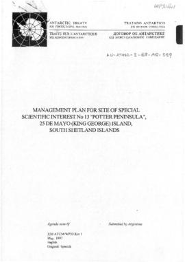 Twenty-first Antarctic Treaty Consultative Meeting (Christchurch) Working paper 30 Revision 1 &qu...