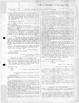 Exchange of notes between France and the Soviet Union relating to the organisation at Kerguelen I...